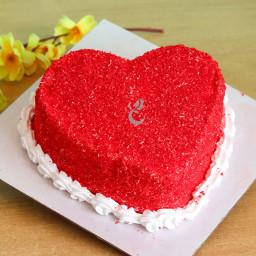 Zoom view of Heart Shape Red Velvet Cake