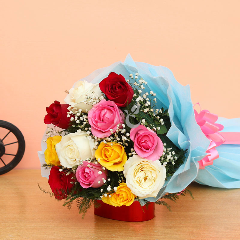 Buy Bouquet Of Shades Of Love Flowers Online Rs 499