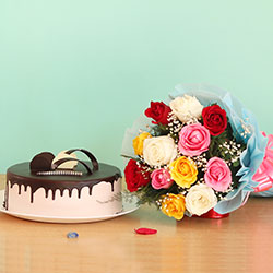 Flowers with Cake